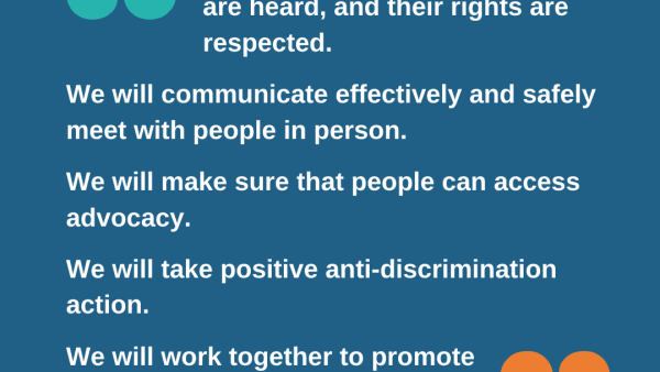 Upholding rights & valuing voices: Advocacy principles for coronavirus and beyond